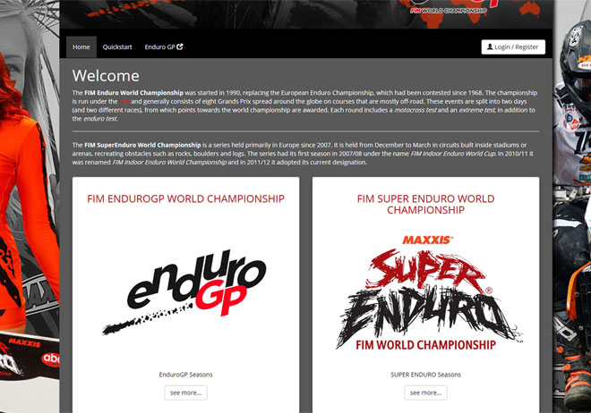 EnduroGP World Championship Registration System